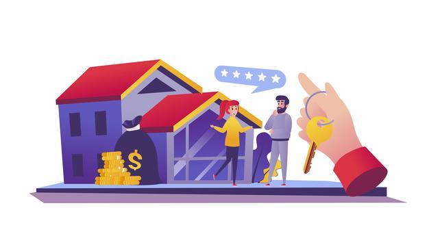 Pareja viendo su hipoteca